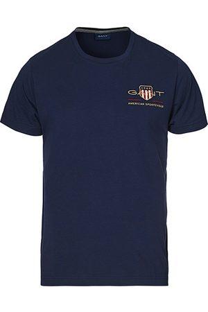 GANT Archive Shield Logo Crew Neck Tee Evening Blue