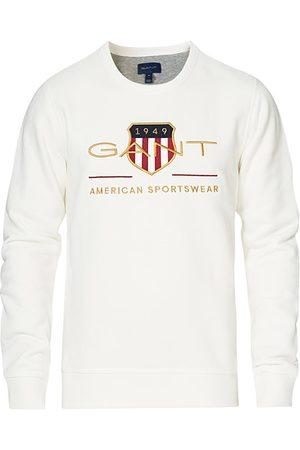 GANT Miehet Collegepaidat - Archive Shield Sweatshirt Eggshell