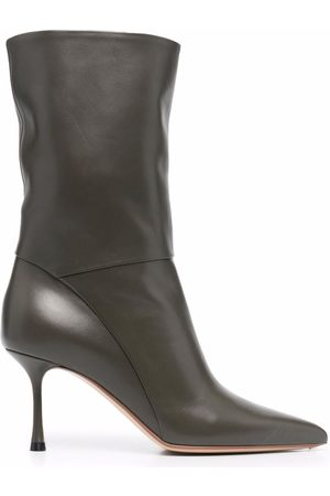 Francesco Russo High-heel leather ankle boots