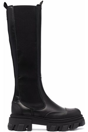 GANNI Slip-on knee-high boots