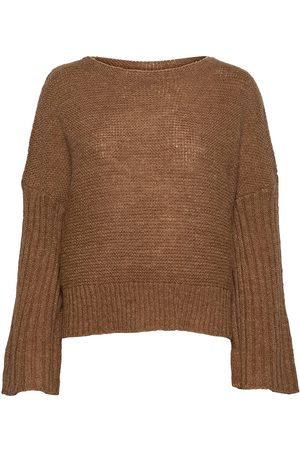 Lounge Nine Naiset Neulepaidat - Lnbaya Knit Loose Pullover Neulepaita Ruskea