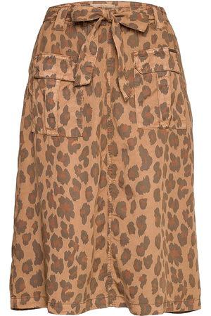 Cream Crhannelore Skirt Polvipituinen Hame Ruskea
