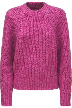 Isabel Marant Naiset Neuleet - Rosy Fluffy Cotton Blend Knit Sweater