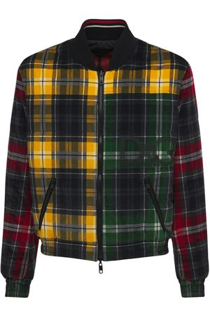 Dolce & Gabbana Miehet Bomber - Padded Tartan Corduroy Bomber Jacket