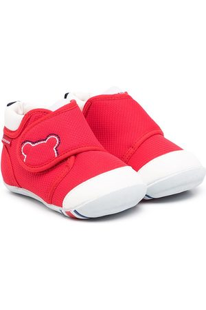 Miki House Tennarit - Touch-strap cotton sneakers