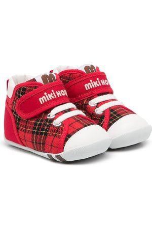 Miki House Tennarit - Tartan touch-strap sneakers