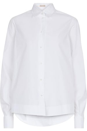 Alaïa Cotton-blend poplin shirt
