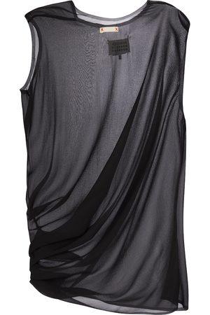 Maison Margiela Gathered stretch-silk top