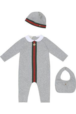 Gucci Baby onesie, hat and bib set
