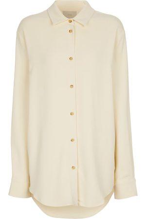 ASCENO Milan stretch-crêpe shirt