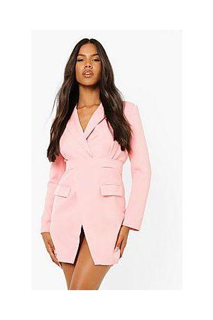Boohoo Tailored Wrap Front Blazer Dress