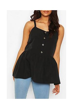 Boohoo Maternity Button Front Cami Smock Top
