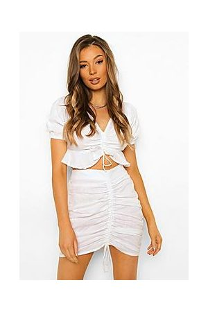 Boohoo Ruched Front Top & Mini
