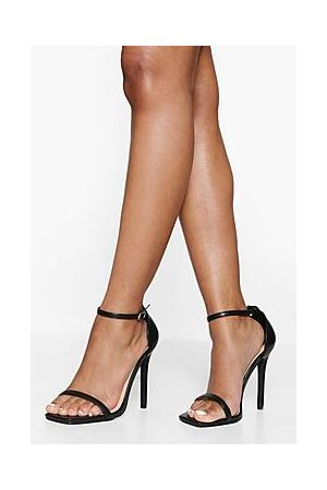 Boohoo Wide Fit Square Toe 2 Part Heeled Sandal