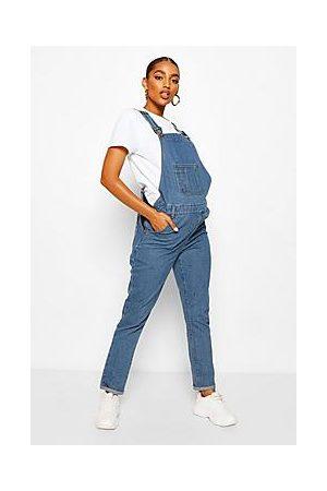 Boohoo Maternity Denim Dungarees