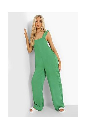 Boohoo Cheesecloth Tie Back Jumpsuit