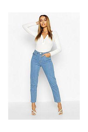 Boohoo Light Blue Straight Leg Jeans