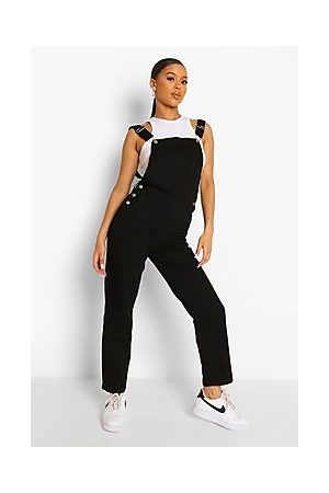 Boohoo Relaxed Straight Leg Dungarees
