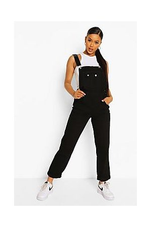 Boohoo Roll Up Hem Relaxed Straight Leg Dungarees