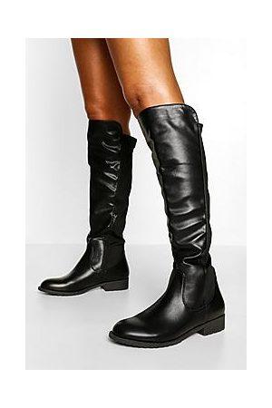 Boohoo Knee High Stretch Riding Boot
