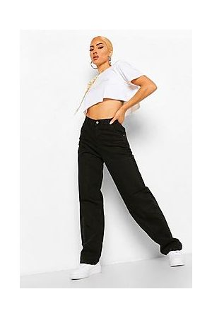 Boohoo High Rise Utility Dad Jeans