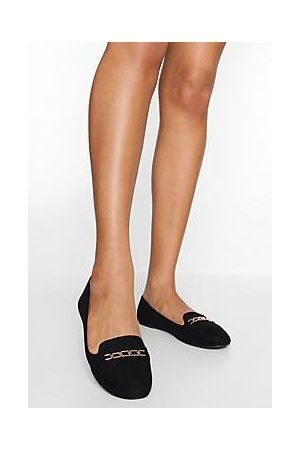 Boohoo Wide Fit Chain Detail Ballet