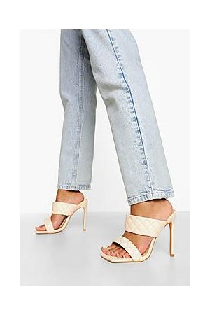 Boohoo Wide Fit Quilted Stiletto Mule