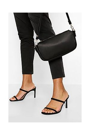 Boohoo Wide Fit Double Strap Mules