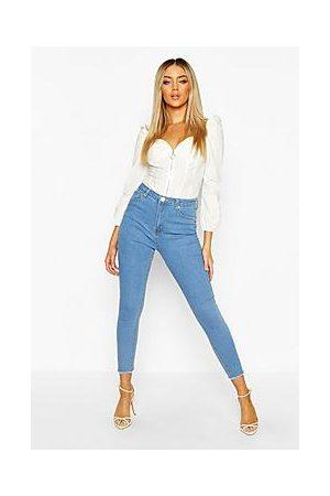 Boohoo Frayed Hem Skinny Jeans