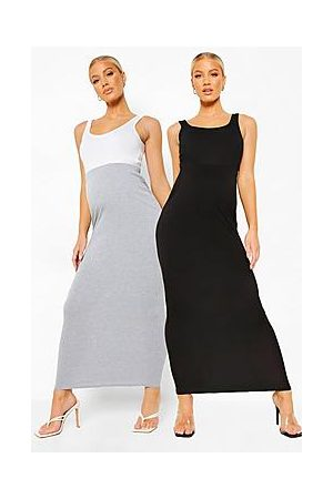 Boohoo Maternity 2pack Over The Bump Maxi Skirt