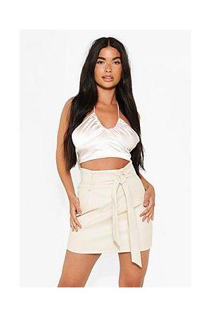 Boohoo Petite Tie Waist Mini Skirt