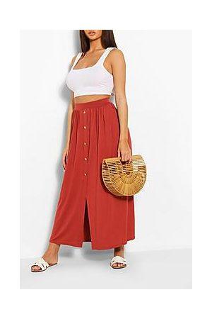 Boohoo Button Front Midaxi Skirt