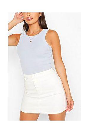 Boohoo Stretch Denim Mini Skirt