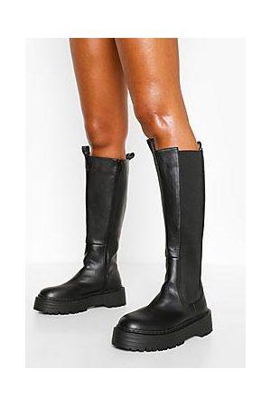 Boohoo Knee High Chelsea Boot