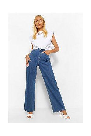 Boohoo Denim Basic Wide Leg Jeans