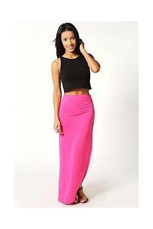 Boohoo Petite Michelle Viscose Maxi Skirt
