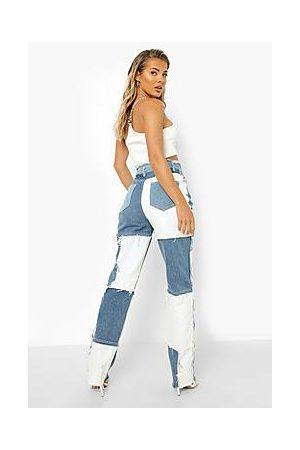 Boohoo Patchwork Boyfriend Jeans