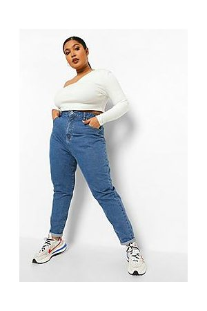 Boohoo Plus High Waist Mom Jeans