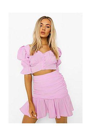 Boohoo Puff Sleeve Top & Mini Skirt