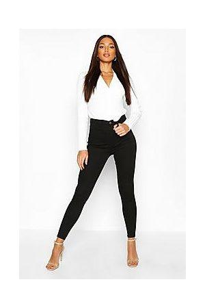 Boohoo Butt Shaper High Rise Stretch Skinny Jeans