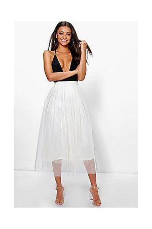 Boohoo Tall Boutique Tulle Mesh Midi Skirt