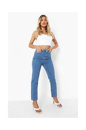 Boohoo High Waist Straight Leg Jeans