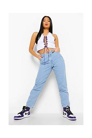 Boohoo Petite V Front Mom Jeans