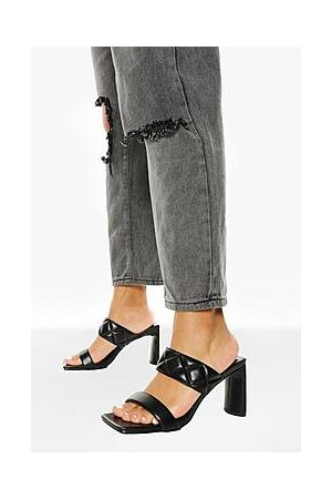 Boohoo Quilted Double Strap Mule