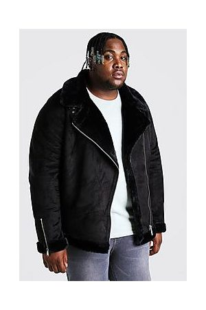 Boohoo Plus Size Faux Fur Lined Suede Aviator