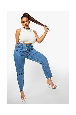 Boohoo Plus High Rise Mom Jeans