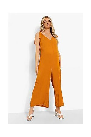Boohoo Maternity Slouchy Tie Strap Jumpsuit