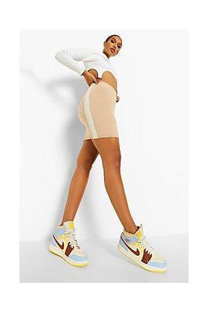 Boohoo Side Stripe Knitted Skirt