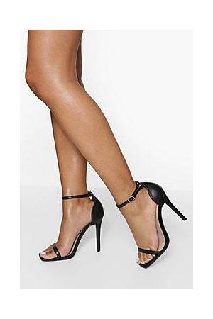 Boohoo Square Toe 2 Part Heeled Sandal