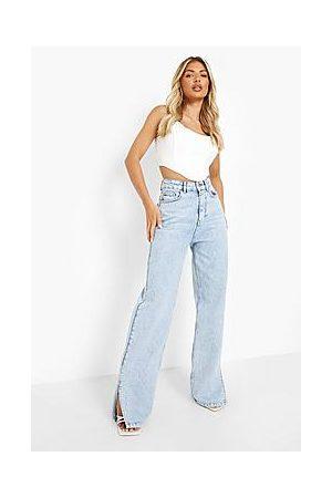 Boohoo Split Hem Jeans